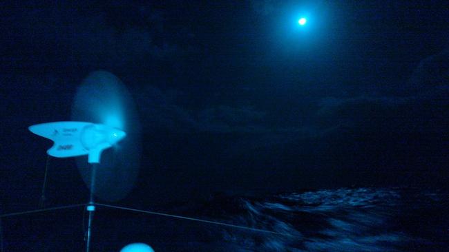 Księżyc nad Atlantykiem. / Fot. T. Siekierko