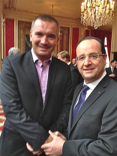 Gutek i prezydent Francji Francois Hollande, Pałac Elizejski, Paryż, 8 kwietnia 2013 / Fot. E.G.