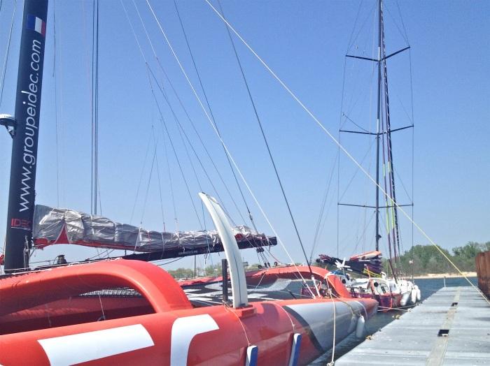 Trimaran IDEC i Open 60 ENERGA w Gateway Marina, Brooklyn, NY / Fot. M. Świstak Marczewski