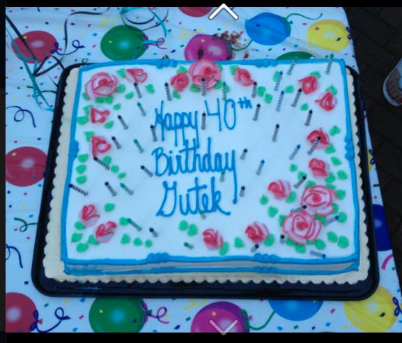Tort urodzinowy Gutka przygotowany przez Jolę i Bogdana Siedleckich.