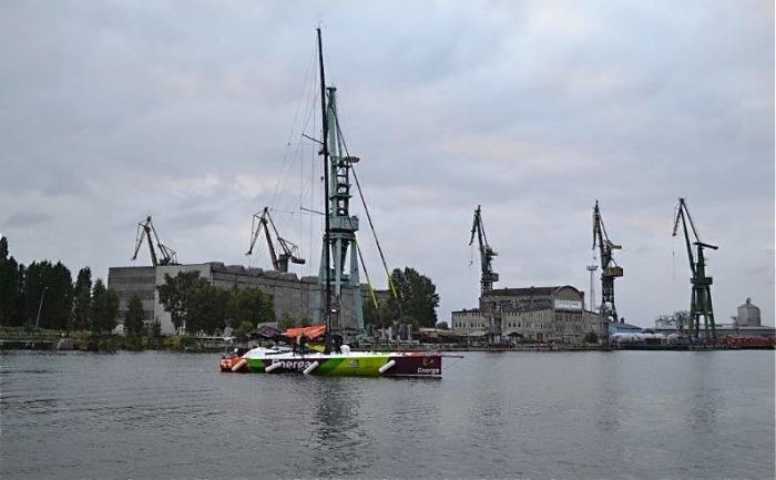 Jacht ENERGA, ex. Hugo Boss - po raz pierwszy na polskich wodach terytorialnych. / Fot. E. Gutkowska