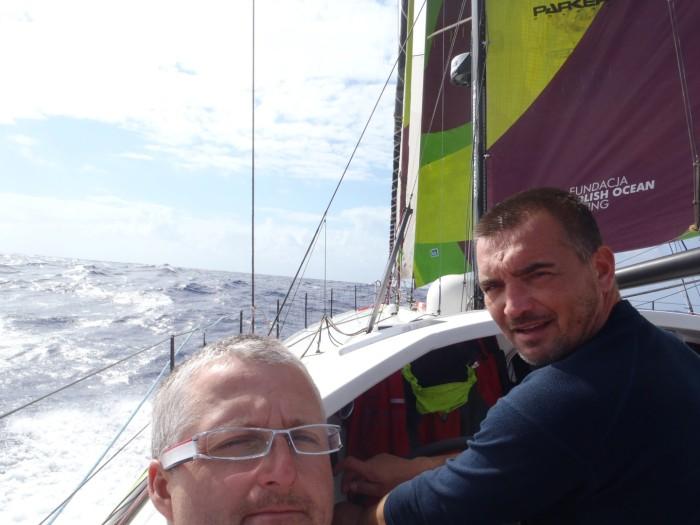 Foto z pokładu. / ENERGA Sailing