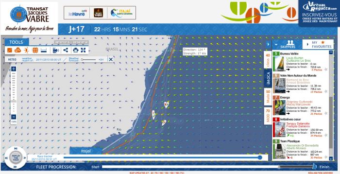 Sytuacja na wodzie 25.11.2013 o godzinie 0930 UTC / TJV2013