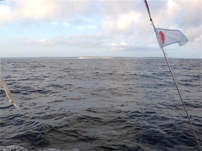 Północ Gotlandii,  Quick Livener na tle klifów / fot. Krystian Szypka