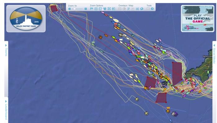 """Ładny """"bałagan"""" na trackingu :) ponad 300 jachtów to jest coś! /"""