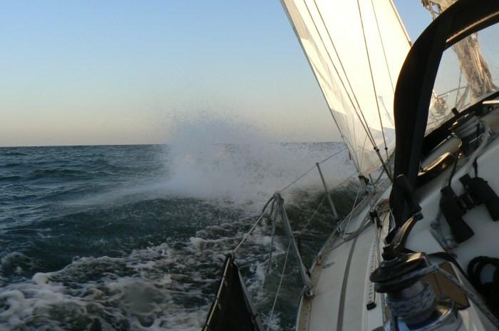 Zdjęcie zrobione przez Jacka z pokładu Quicka - 28 węzłów wiatru. / Fot. J. Zieliński