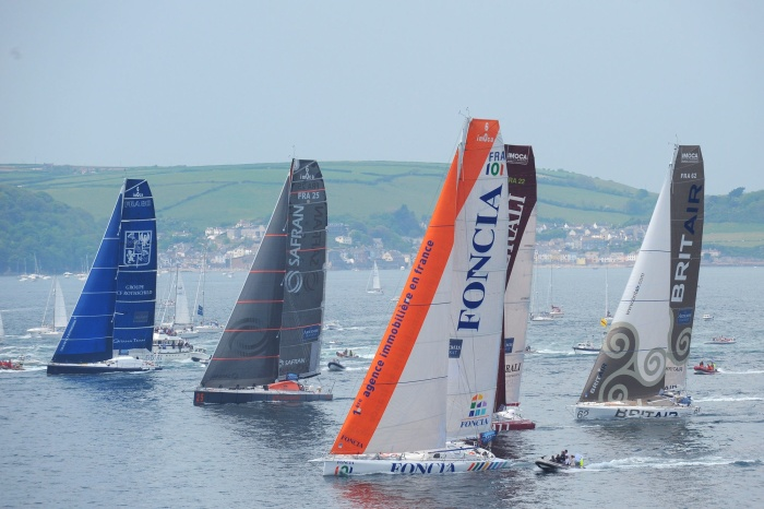 Start regat THE ARTEMIS TRANSAT -PLYMOUTH 11/05/08 /fot. VINCENT CURUTCHET / DPPI / THE ARTEMIS TRANSAT / OC EVENTS START