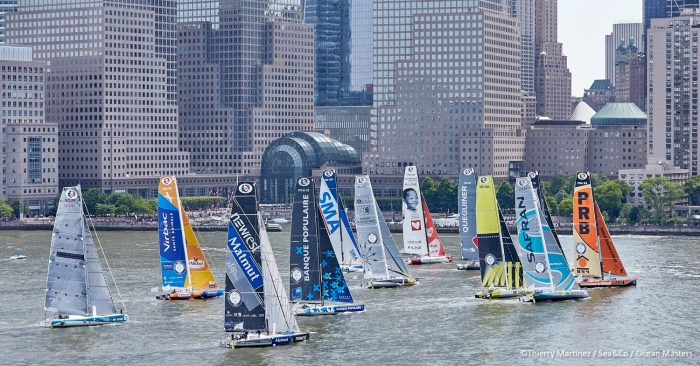 16_12072 ©Th.Martinez/Sea&Co/OSM. NEW YORK CITY - NEW YORK- USA. 29 MAY 2016. Start of NEW YORK-VENDEE (Les Sables d'Olonne) presented by Currency House & SpaceCode, (Single-Handed transatlantic sailing race from New York-USA to Les Sables-FRA -3100 NM .