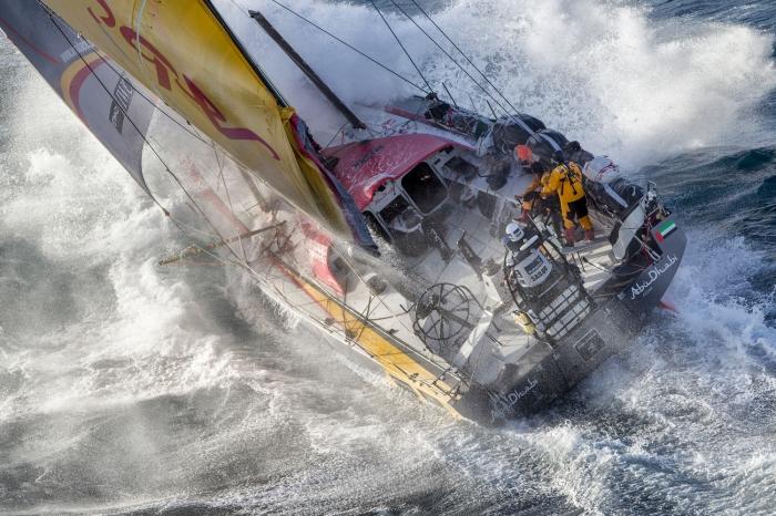 19.03.2015. Abu Dhabi Ocean Racing przy Nowej Zelandii (East Cape). / Fot. A.Sanchez