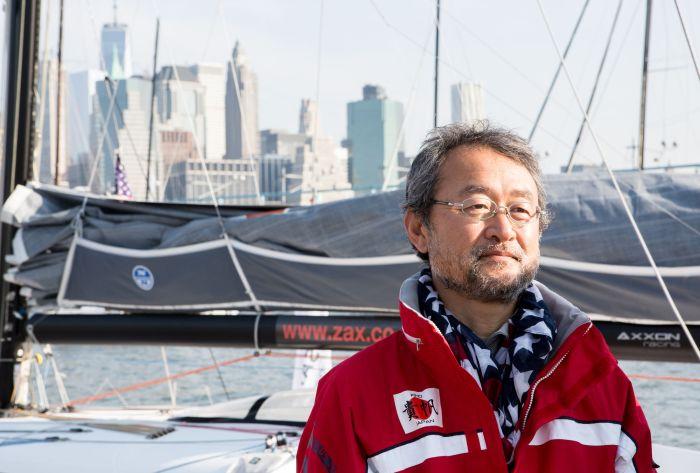 Znany już z The Transat Hiroshi Kitada startuje teraz w drugą stronę. / Fot. Laurent Apollon