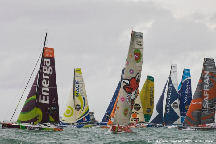 SAILING - START VG 2012-2103 - LES SABLES D'OLONNE (FRA) - 10/11/2012 - PHOTO VINCENT CURUTCHET / DPPI / VENDEE GLOBE - START -