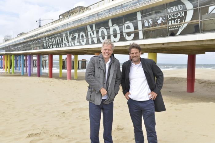 Kolorowe molo w Hadze - z okazji Volvo Ocean Race. /fot. David Lichtneker-AkzoNobel