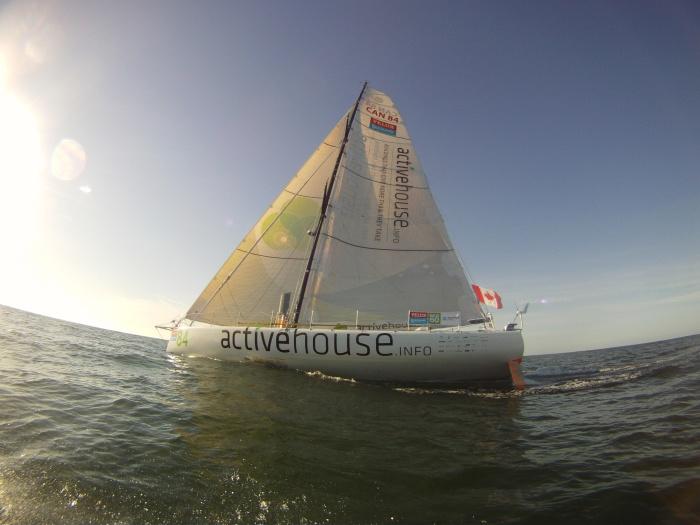 Jacht, na którym startował w Velux 5 Oceans - Active House. / Fot. V5O