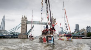 20160730 Copyright onEdition 2016© Free for editorial use image, please credit: onEdition  The Clipper Race finish at, Tower Bridge, London.  If you require a higher resolution image or you have any other onEdition photographic enquiries, please contact onEdition on 0845 900 2 900 or email info@onEdition.com This image is copyright onEdition 2016©.  This image has been supplied by onEdition and must be credited onEdition. The author is asserting his full Moral rights in relation to the publication of this image. Rights for onward transmission of any image or file is not granted or implied. Changing or deleting Copyright information is illegal as specified in the Copyright, Design and Patents Act 1988. If you are in any way unsure of your right to publish this image please contact onEdition on 0845 900 2 900 or email info@onEdition.com