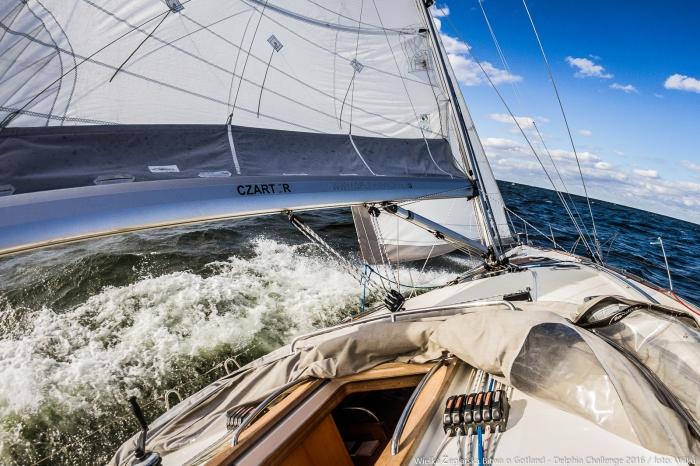 Na trasie, gdzieś w okolicach Gotlandii :)) / Fot. M. Wilczek z pokładu Delphia V