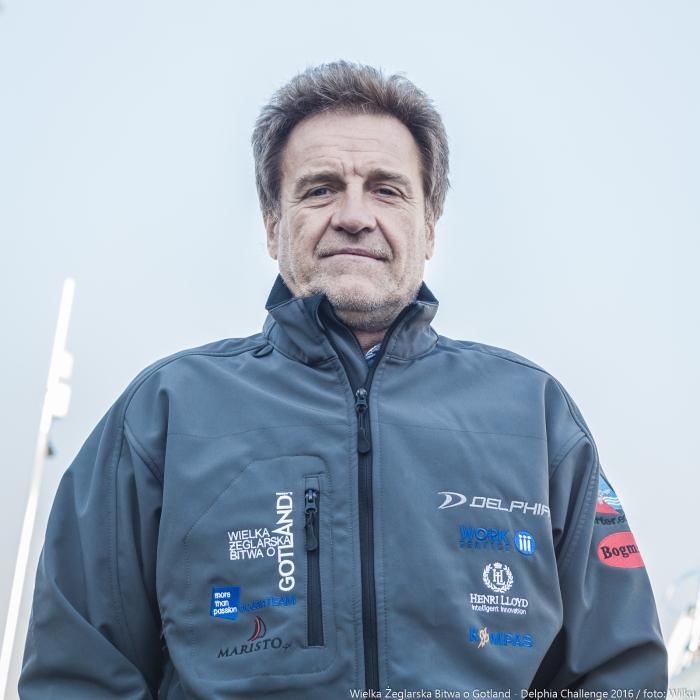 """Mirosław Zemke - skiper """"Hobarta"""". / Fot. M. Wilczek"""