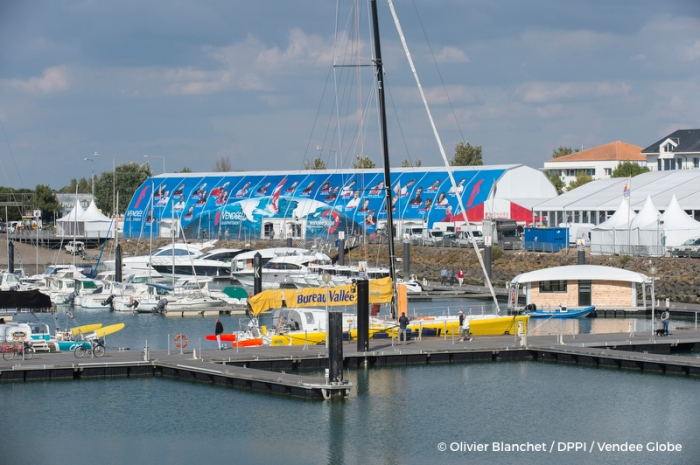 Illustration of the village and race headquarters of the Vendee Globe 2016 in Les Sables d'Olonne, France, on october 4, 2016 - Photo Olivier Blanchet / DPPI / Vendee Globe
