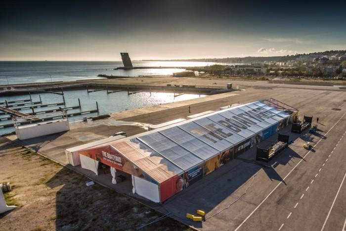 Baza remontowa w Lizbonie. / Fot. Marc Bow / Volvo Ocean Race