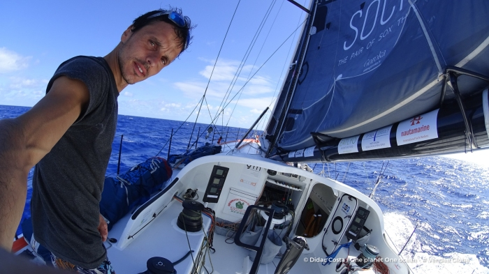 Photo sent from the boat One planet One ocean, on November 26th, 2016 - Photo Didac Costa Photo envoyée depuis le bateau One planet One ocean le 26 Novembre 2016 - Photo Didac Costa