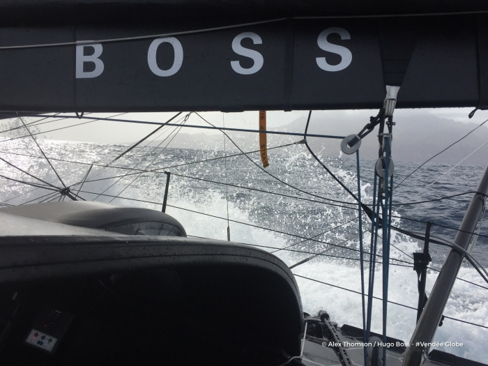 Photo sent from the boat Hugo Boss, on November 12th, 2016 - Photo Alex Thomson Photo envoyée depuis le bateau Hugo Boss le 12 Novembre 2016 - Photo Alex Thomson