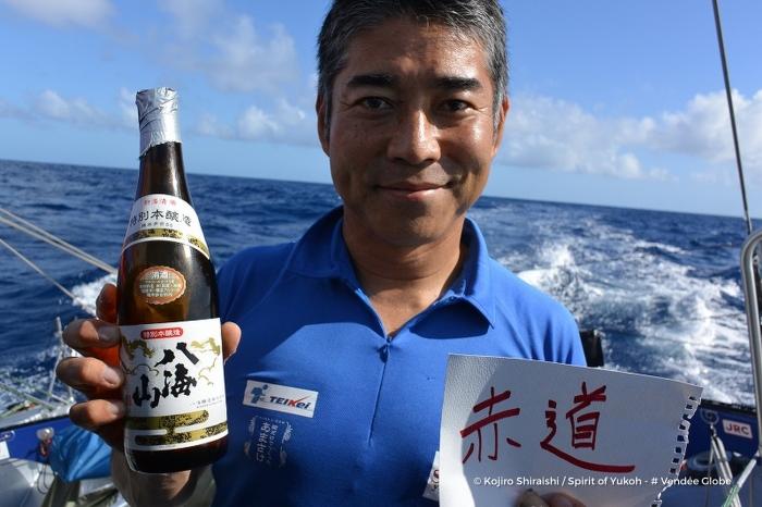 Photo sent from the boat Spirit of Yukoh, on November 20th, 2016 - Photo Kojiro Shiraishi Photo envoyée depuis le bateau Spirit of Yukoh le 20 Novembre 2016 - Photo Kojiro Shiraishi Passage Equateur