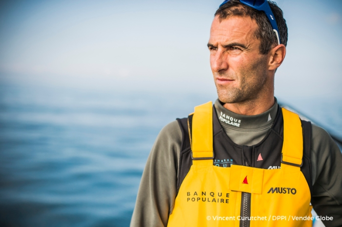 Onboard image bank for Armel Le Cleac'h (FRA), skipper Banque Populaire VIII, prior to the Vendee Globe 2016, solo circumnavigation race starting on november 6, in Lorient, south brittany, on september 19-20, 2016 - Photo Vincent Curutchet / DPPI / Vendee Globe