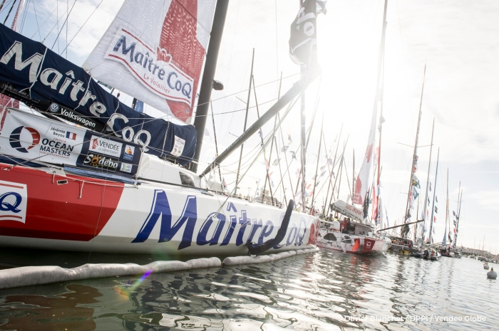 Boats at pontoons during prestart of the Vendee Globe, in Les Sables d'Olonne, France on october 15th, 2016 - Photo Olivier Blanchet / DPPI / Vendee Globe
