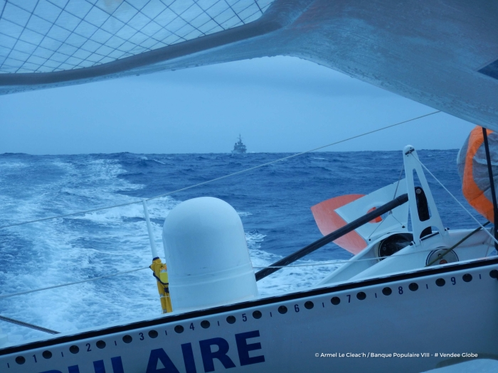 Photo sent from the boat Banque Populaire VIII, on November 30th, 2016 - Photo Armel Le Cleac'h Photo envoyée depuis le bateau Banque Populaire VIII le 30 Novembre 2016 - Photo Armel Le Cleac'h Frégate marine