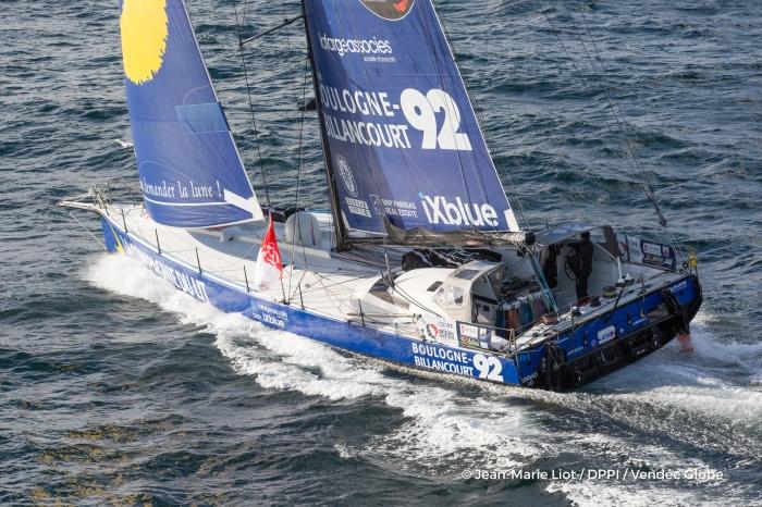 Tak jachty wyglądał na starcie. / Fot. Photo Jean-Marie Liot / DPPI / Vendee Globe