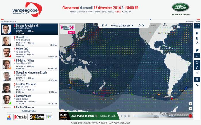 Pierwsi mijają Horn, ostatni - Leeuwin. Odległość pomiędzy pierwszym a ostatnim jachtem to dziś 7 734 Mm.