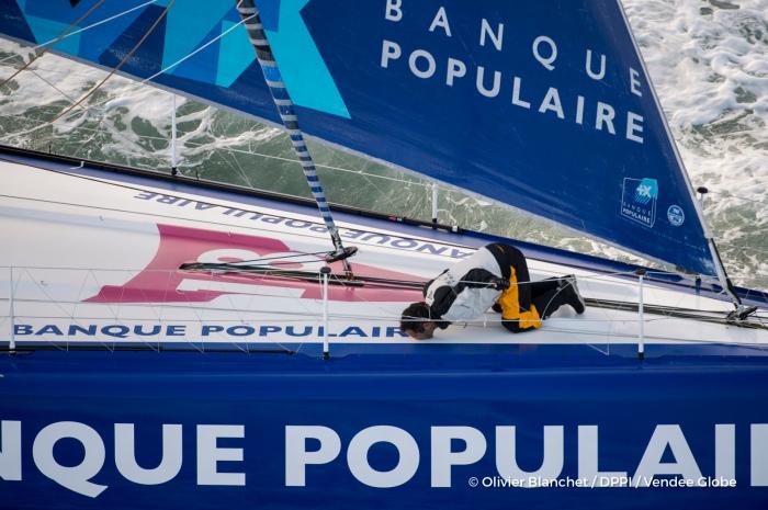 Przepłynąć dookoła świata bez awarii - naprawdę cud. / Fot. Olivier Blanchet / DPPI / Vendee Globe