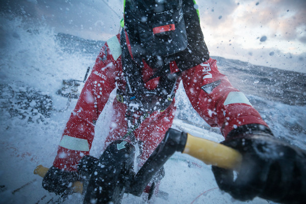 Leg 3, Cape Town to Melbourne, day 14,  Southern Ocean sailing on board Vestas 11th Hour. Photo by Sam Greenfield/Volvo Ocean Race. 23 December, 2017.  Southern Ocean sailing on board Vestas 11th Hour.