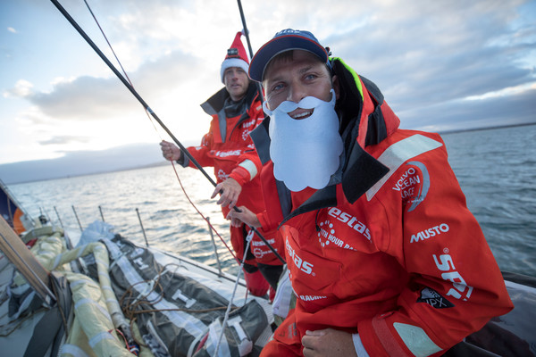 Leg 3, Cape Town to Melbourne, day 15,  Arriving in Melbourne on Christmas Day on board Vestas 11th Hour. Photo by Sam Greenfield/Volvo Ocean Race. 24 December, 2017.  Arriving in Melbourne on Christmas Day on board Vestas 11th Hour.
