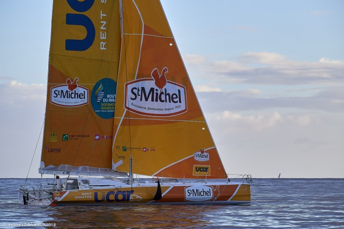 Ten jacht również zmienia skipera, będzie nim teraz Włoch, ..... Fot. Yvan Zedda, #RdR2018